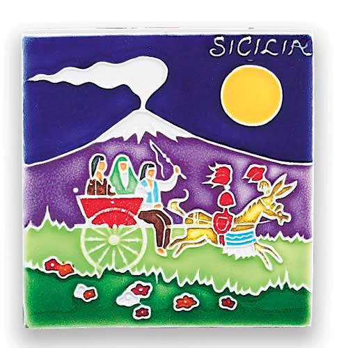 Sicily - Donkey with Cart