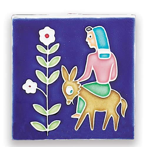 Folk Scene - Woman with Donkey