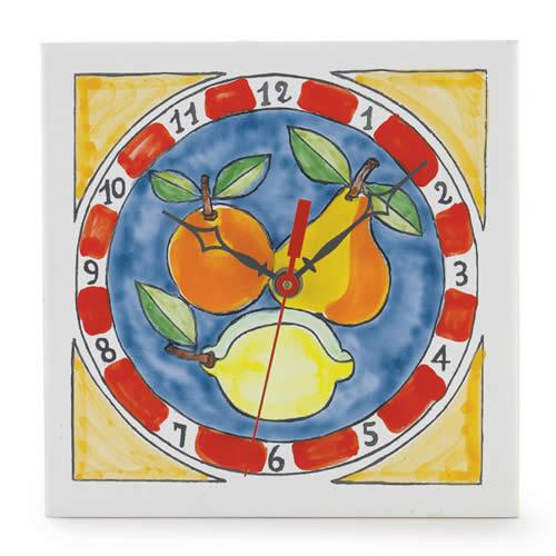 Square Fruit Clock