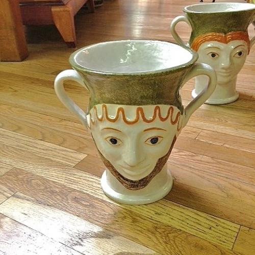 Male - Female Handmade Tuscan Vase With Handles