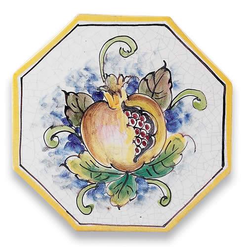 Octagonal Pomegranate Tile