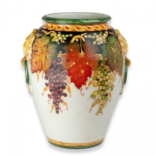 Vitti Urn With Leaves and Grapes
