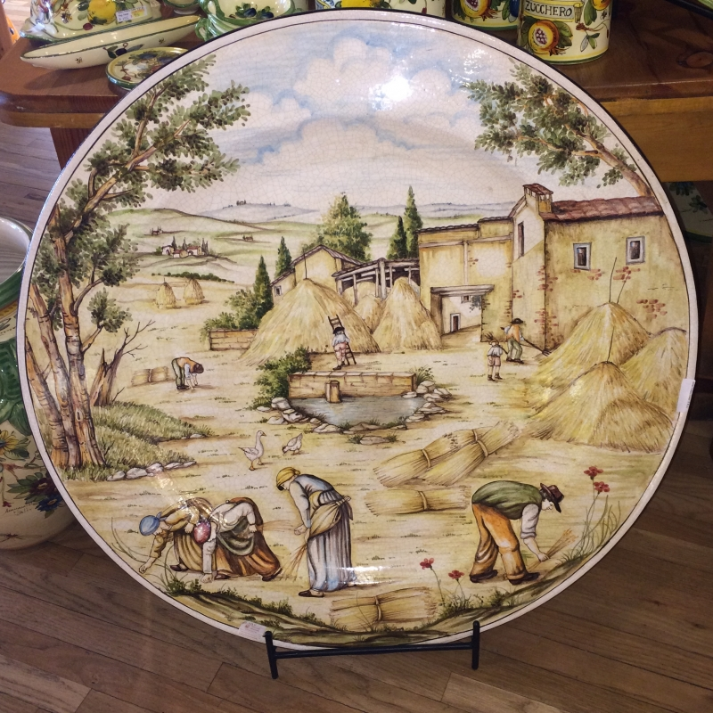 Tuscan Harvest Scene Decorative Platter 1