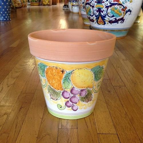 Medium Flowerpot - Fruit on Orange