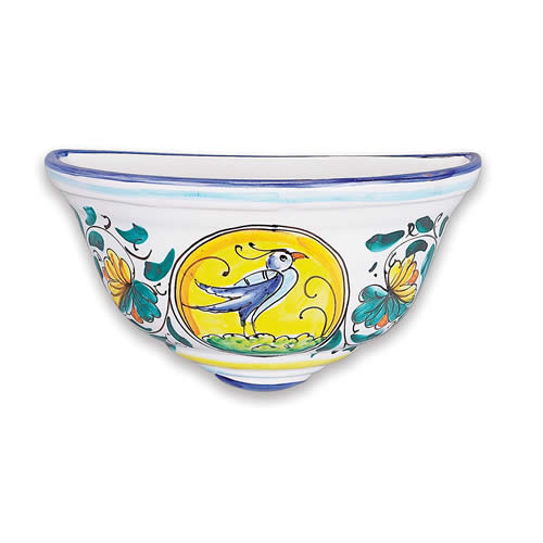 Wall Planter Bird Italian Pottery Outlet
