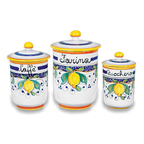 Italian Kitchen Sets Manufacturer: Alcantara Canisters 1