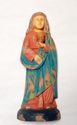 Sacred Heart of Mary Wooden Saint